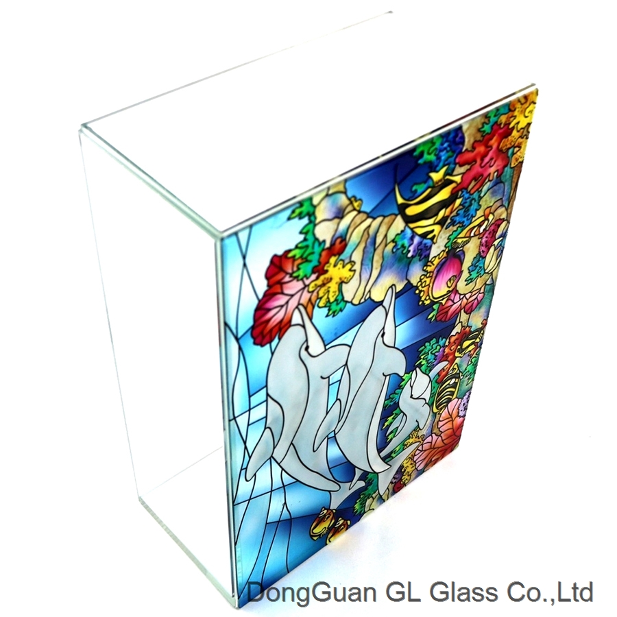 OEM 3d painted glass light shade
