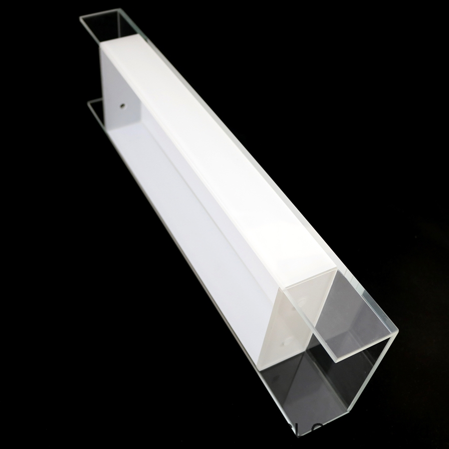 Modern simple style wall light clear+white painted glass lamp shade