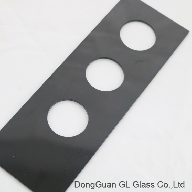 3mm 5mm 6mm tempered silk screen printing glass for lighting appliances