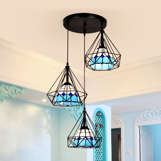 Individual dining hall lamp Mediterranean style dining table chandelier