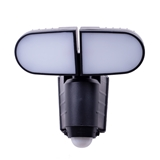 Amorphous solar panel Double head wall lamp 500LM LED solar security light