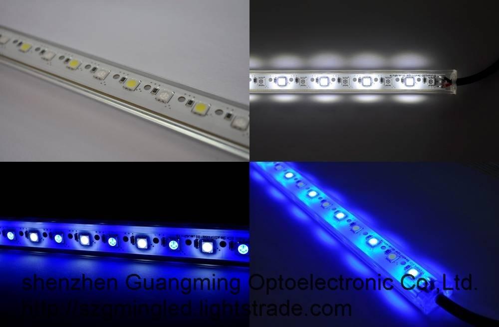 Aluminum Profile 24V 14.4W 60LEDs Waterproof RGB LED Strip light Bar
