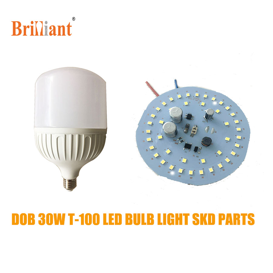 Custom logo E27 T100 30w led bulb light for spare parts