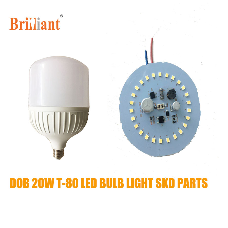Lowest price High lumen E27 20W DOB led bulb skd parts