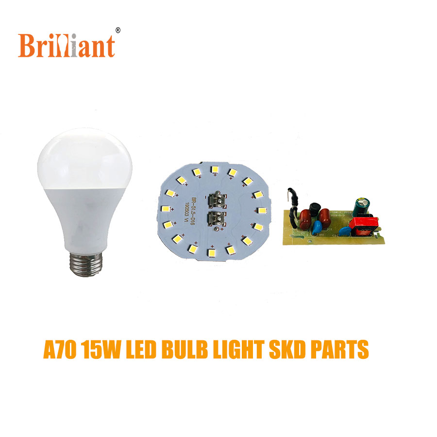 China factory 15watt a60 b22 led bulbs skd led lights