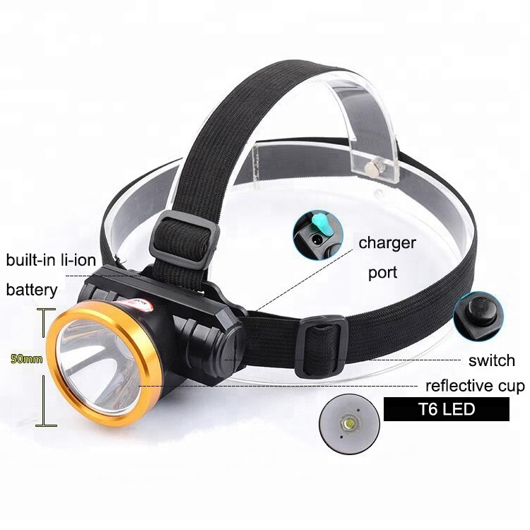 Smilingshark 3W Rechargeable Strong light Led Miner Head lamp waterproof Headlamp Rechargeable Headl