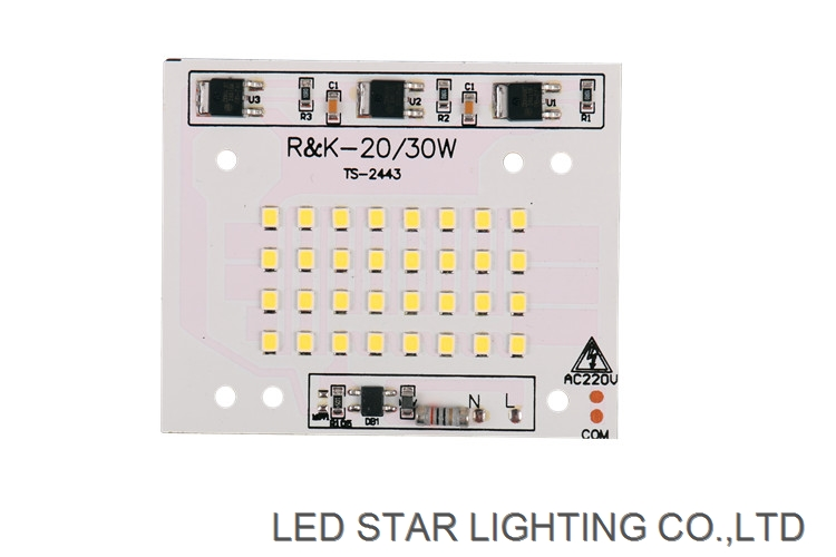 Factory good price smd2835 ac220v integrated linear ic driver 30w flood light led module