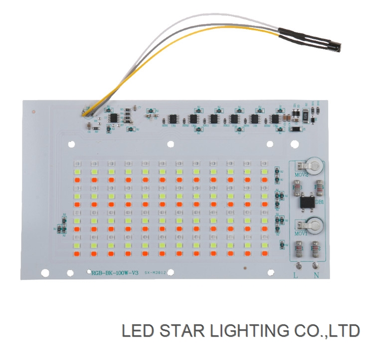 Factory XGD Newest good quality cheap price 30W 50W 100W LED RGB Flood light AC DOB LED Module