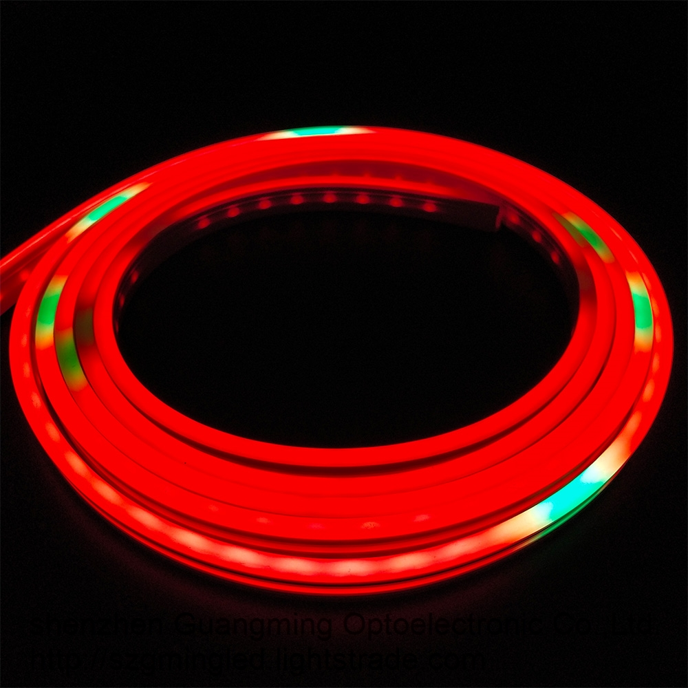 High lumen IP68 silicone waterproof led strips lighting 24V warm color 120leds 3528 smd led strip
