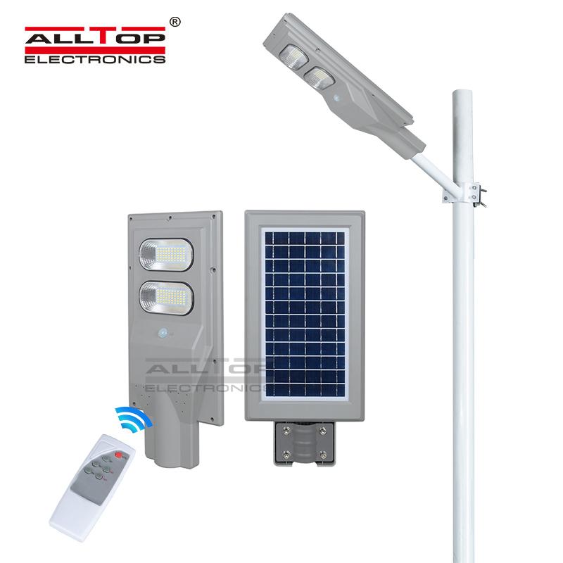ALLTOP High power ip65 outdoor waterproof bridgelux 60watt all in one led solar streetlight price