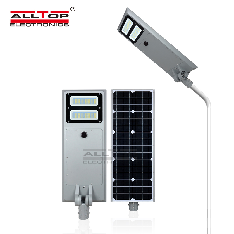 ALLTOP Aluminum smd IP65 waterproof solar 40w 60w 100w integrated all in one solar led street light