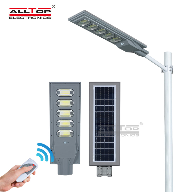 ALLTOP New product 150W IP65 outdoor integrated motion sensor all in one solar led street light pric