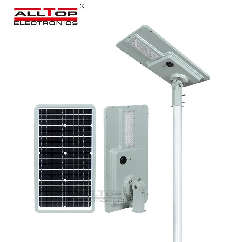 ALLTOP high brightness intelligent sensor integrated solar street light