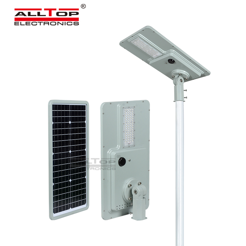 ALLTOP High quality microwave induction integrated all in one led solar street light