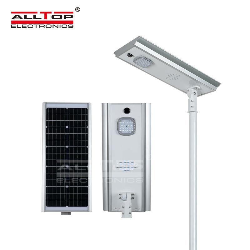 ALLTOP Energy saving waterproof aluminum all in one solar led street light