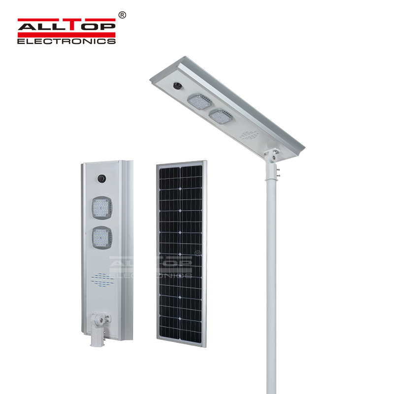 ALLTOP Outdoor waterproof aluminum housing all in one led solar street light