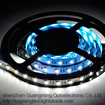 Super bright 5M 5050 3528 60leds m DC12V Flexible Single Color RGB waterproof led strip light for Ou