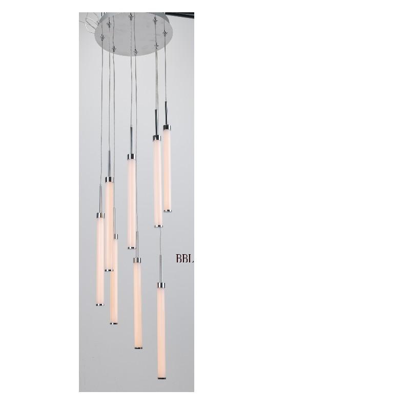 LED pendant lamp with 8pcs acrylic straight tube