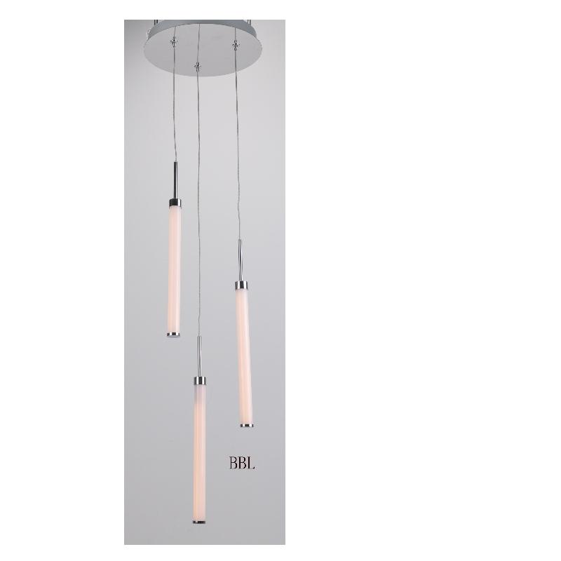 LED pendant lamp with 3pcs acrylic straight tube