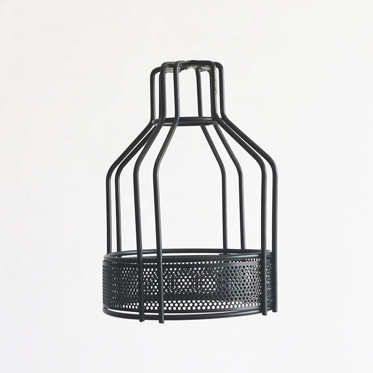Pierced design Loft Retro Metal Wire Cage Bulb Guard Light Shades Pendant Cover Shades