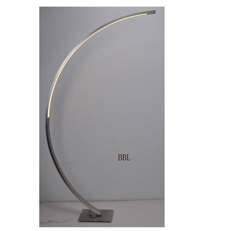 LED floor lamp with touch dimmer on the lamp top