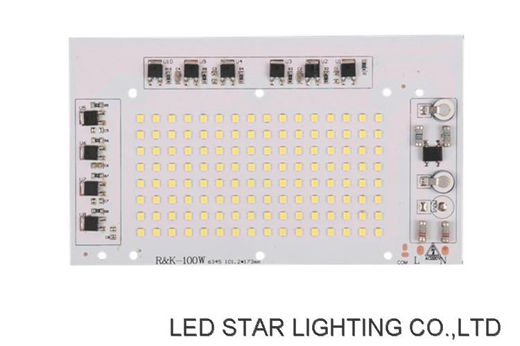 AC220V MCPCB DOB Board SMD 2835 SANAN chip 100W driverless linear ic led module