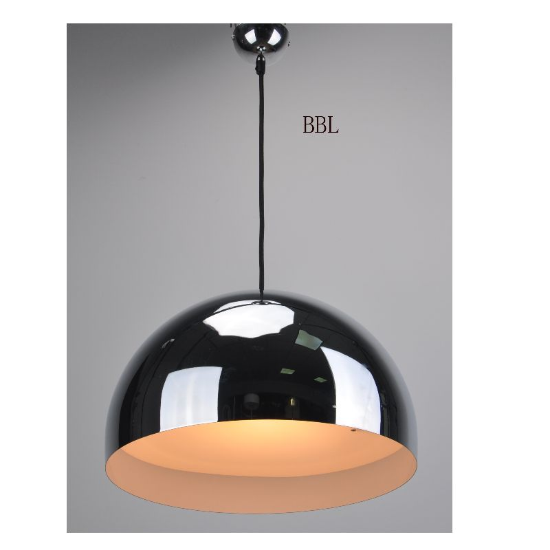 High voltage LED pendant lamp with DIM TO WARM and metal shade