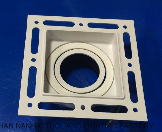 China supplier CE commercial recessed anti glare Down Lights pure aluminium Spot Lights Shell