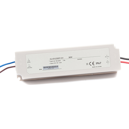 Waterproof 36W Plastic power supplies 12V 3A 24V 1.5A