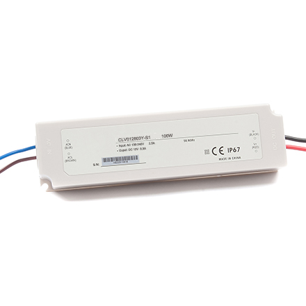 100W waterproof Plastic power supplies 12V 8.3A 24V 4.2A