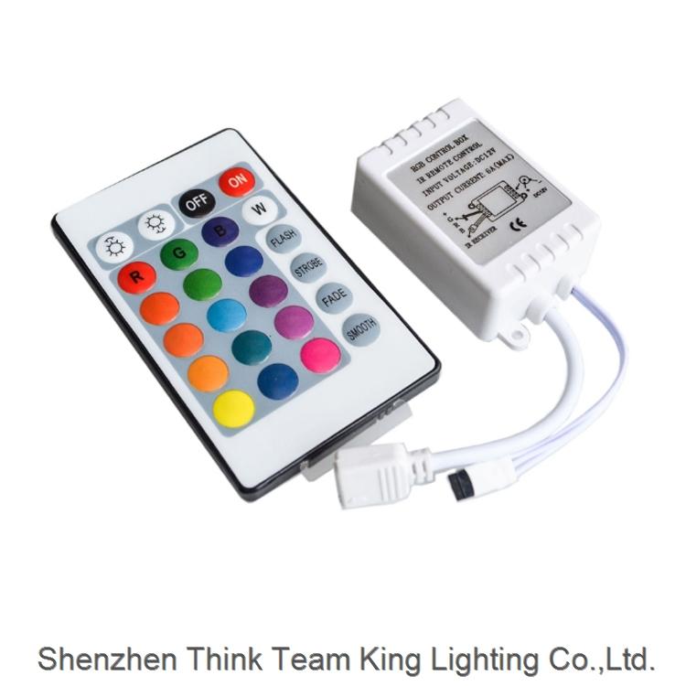 24 Key LED RGB IR Remote Controller for SMD 3528 5050 RGB LED Strip Lights