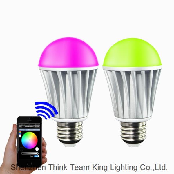 WiFi Smart E27 LED Bulb light Works with Alexa 7W RGBW