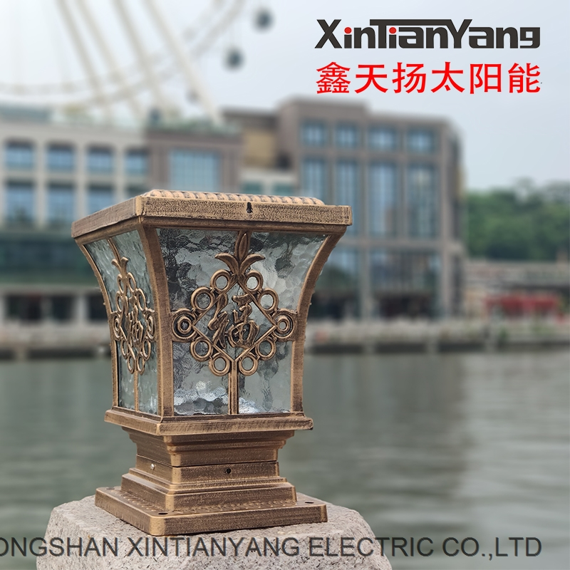 Pillar lamp solar LED waterproof outdoor courtyard wall lamp European Garden Villa gate pillar lamp
