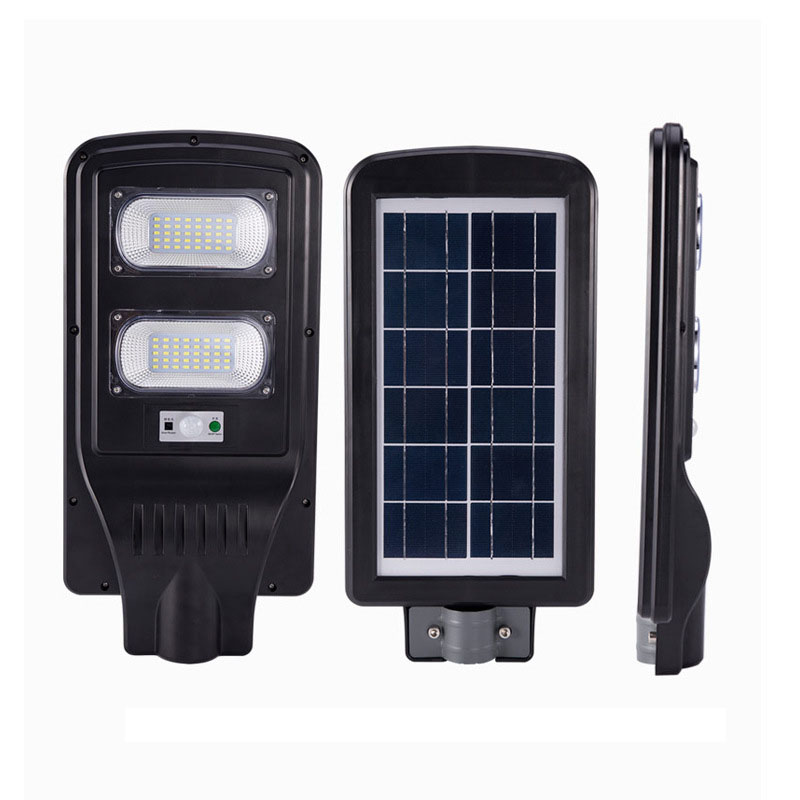 LED Flood Lights Lamp with Remote Control Timing Outdoor 30W Integrated Solar Street Light