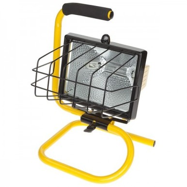 500W Portable Handheld Single Fixture Floodlight Spot Lamp Garden Outdoor Halogen Work Light