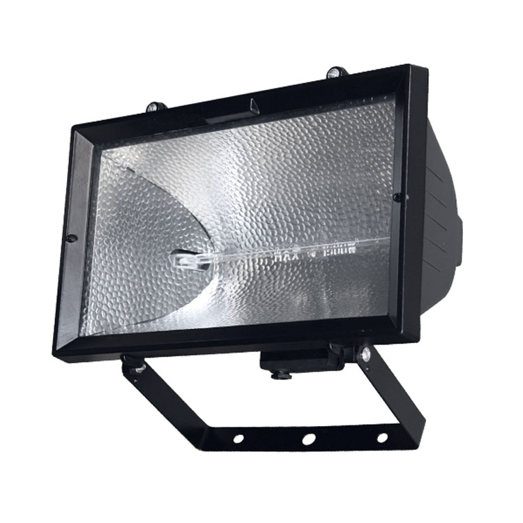 Black Aluminium Outdoor Home Security Wall Mounted Mains Powered R7s 1500w halogen floodlight lamp