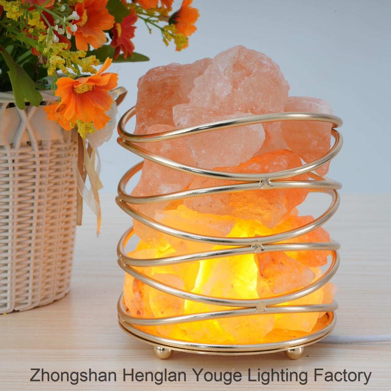 Iron Salt Lamp Crystal Salt Lamp-JH0007