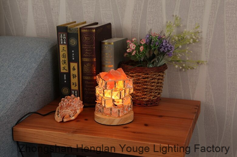 Rubiks Cube Rock Crystal Salt Lamp-JH8913