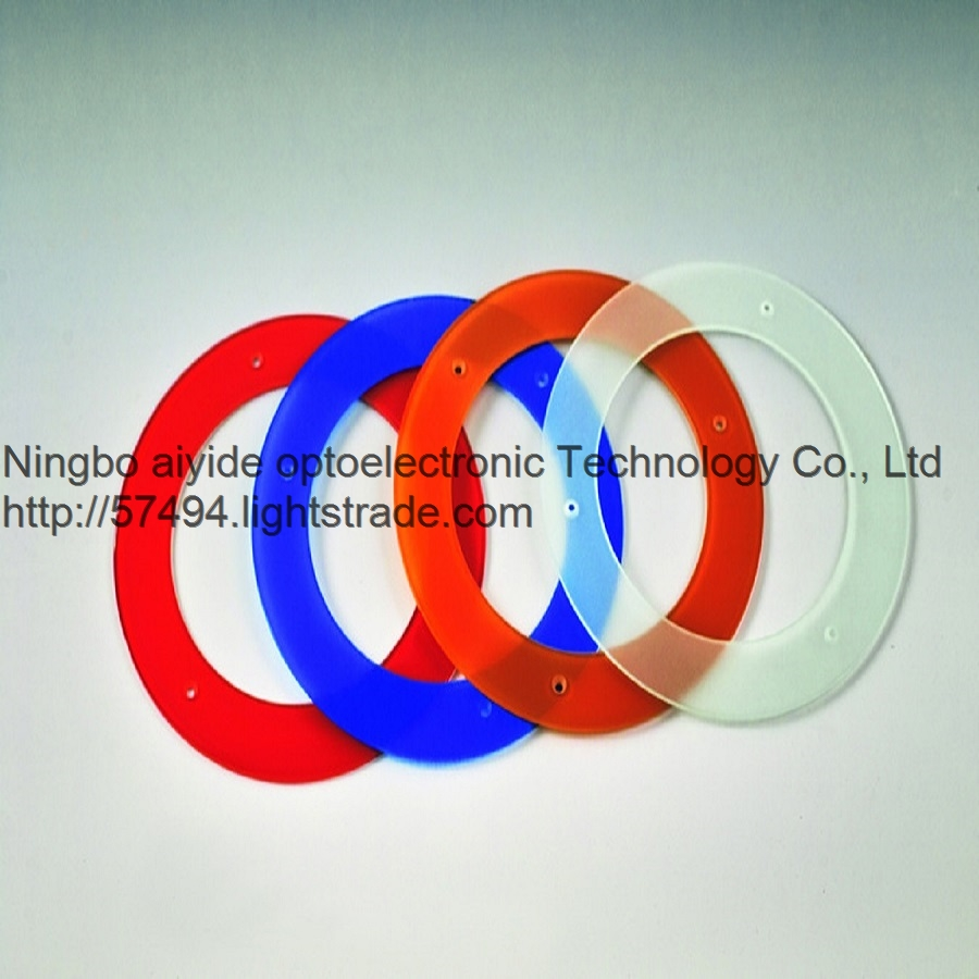 silk color round Toughened glass lamp cover