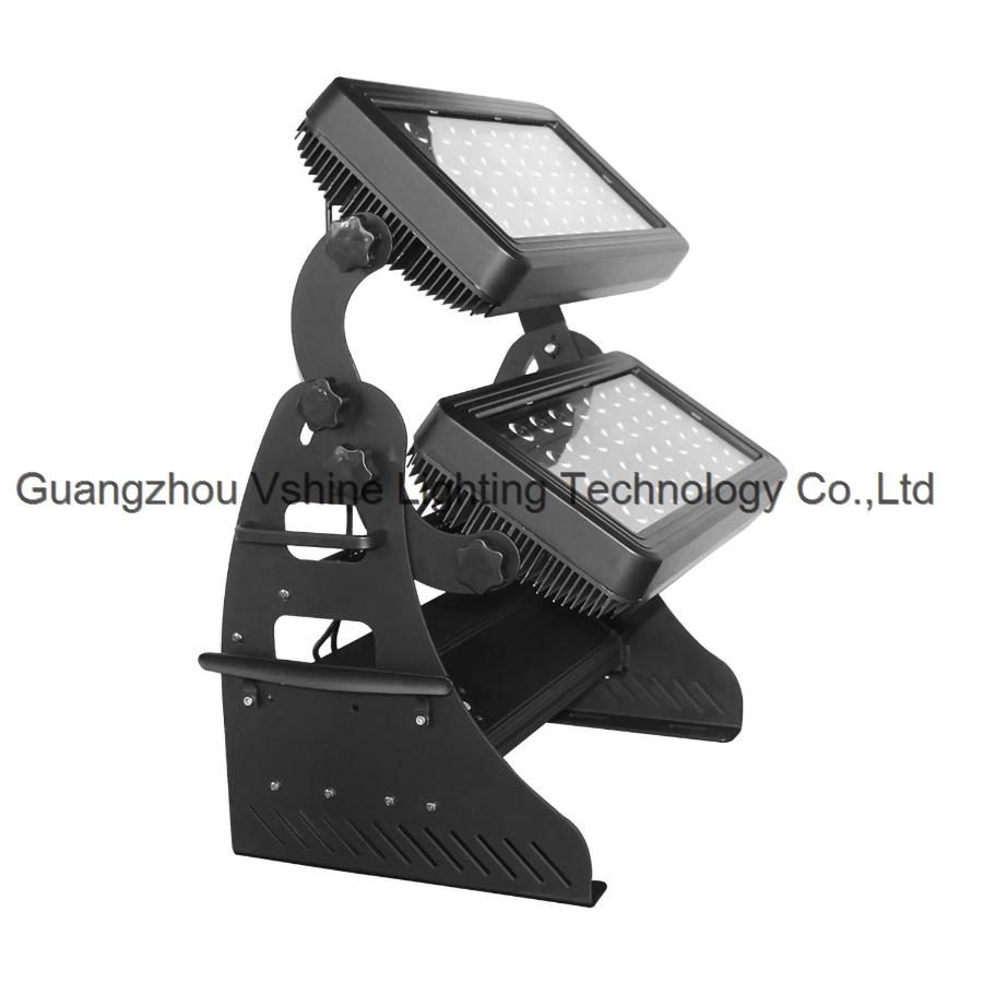 72 double-layer waterproof flood lights CREE high-power flood lights outdoor stained lights city lig