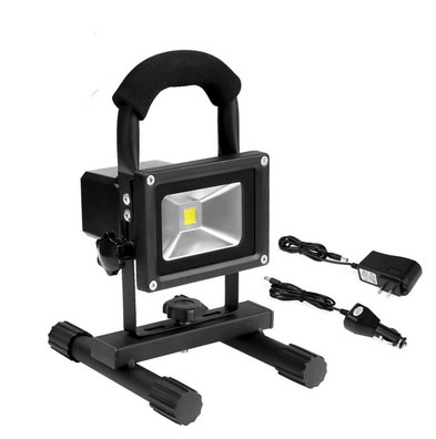 Waterproof 60W Halogen Equivalent Mobile Flood Lamp Portable 600lm 10W Rechargeable LED Work Light