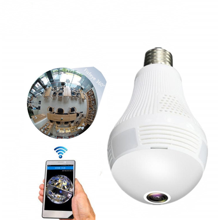 Micro 360 degrees Ptz Spy Mini Security De Surveillance Wifi Hidden Wireless Ip Bulb Camera