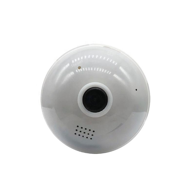 Fisheye wifi panorama Ip Mini video security hidden digital camera surveillance 360 degree lightbulb