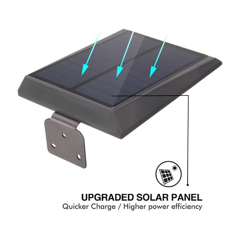 High Lumen LED modern solar motion sensor Activated wall light for garden outdoor