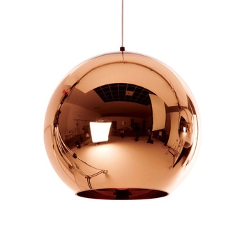 Copper led hanging lamp bar home decor globe ball lamp glass