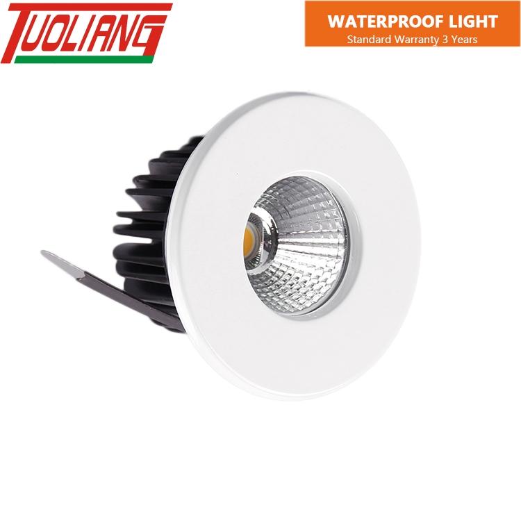 Aluminum alloy led waterproof indoor lighting fixtures downlight ip65 led recessed bathroom lighting