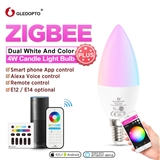 ZigBee candle light zll RGB + CCT led supports Amazon echo plus app voice control