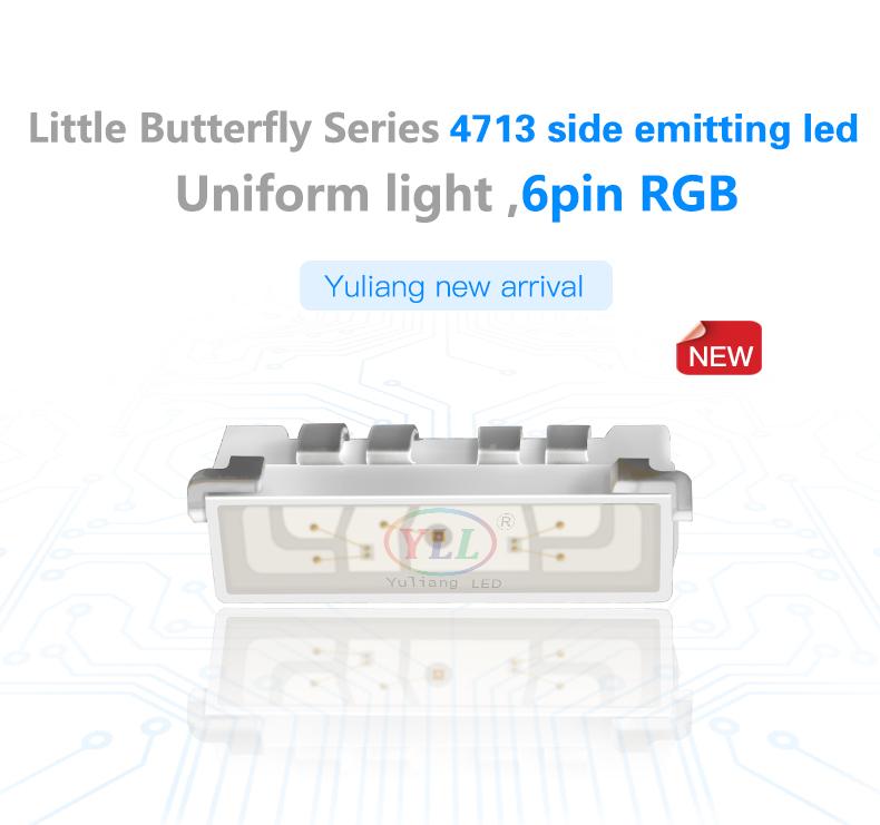 4713RGB side view led 4713 smd LEDs 4713 side emitting led RGB LEDs