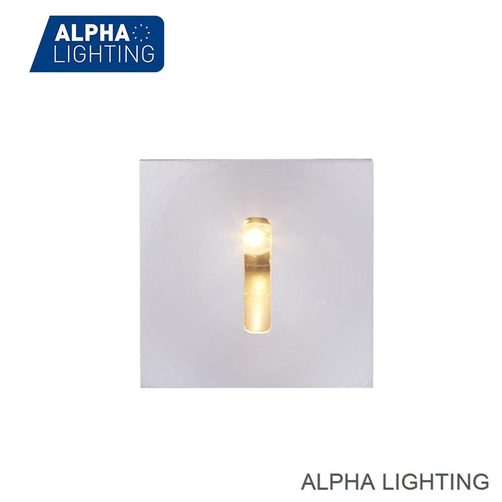 IP65 square shape light towards floor led step light