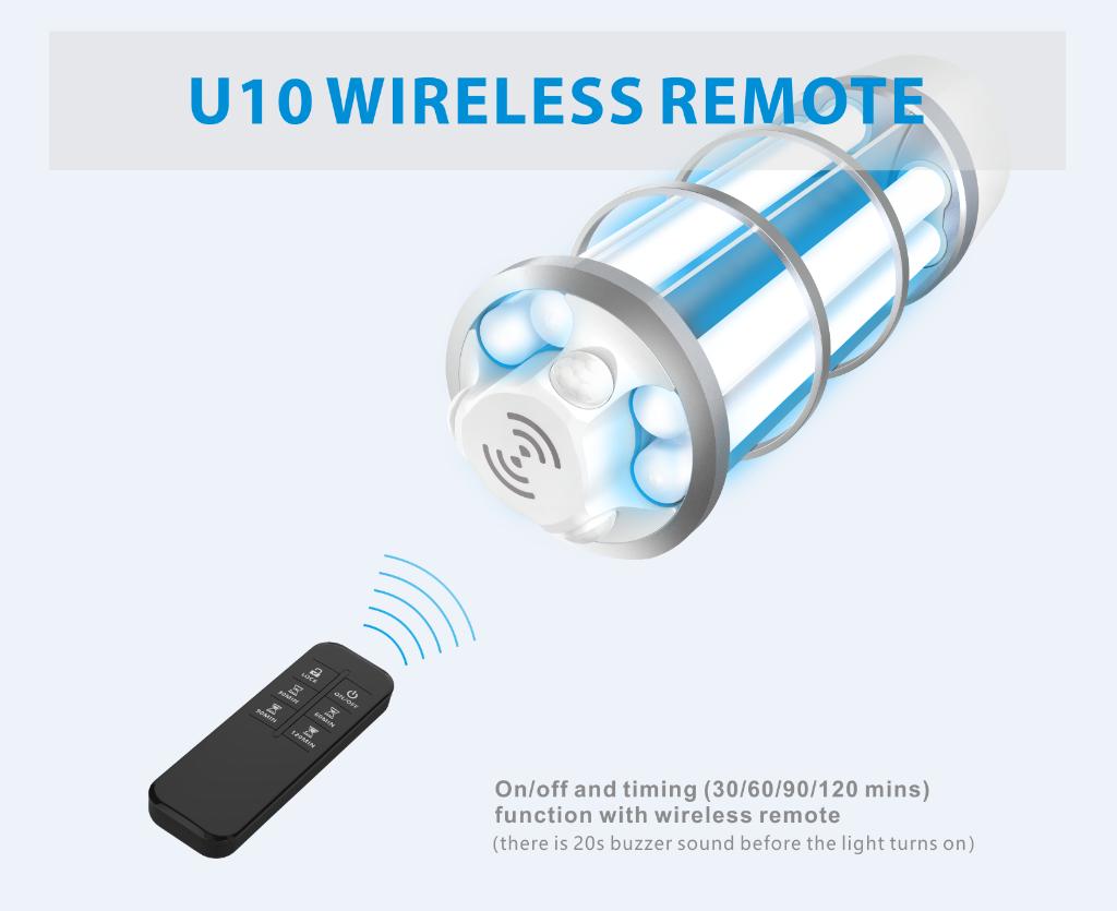 remote control uvc corn light microwave sensor sterilizer CE FCC UL FDA